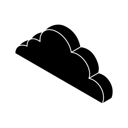 cloud computing isometric icon vector illustration design Stock Vector - 77496285