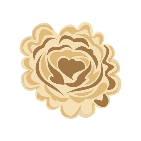 rose with heart icon vector illustration design