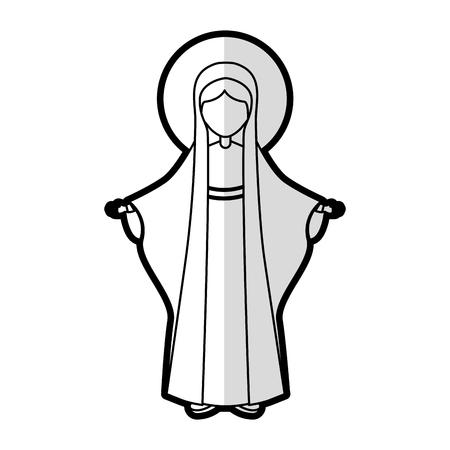 Santa virgen maria icono de diseño de ilustración vectorial Foto de archivo - 77496313