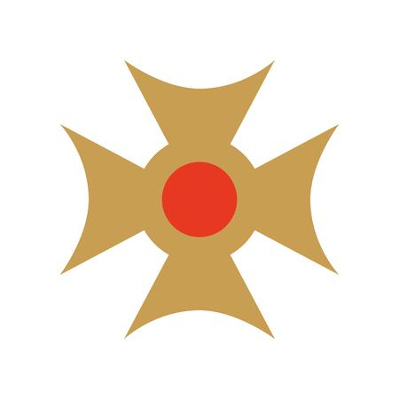 Christian cross emblem icon vector illustration design Reklamní fotografie - 77496316