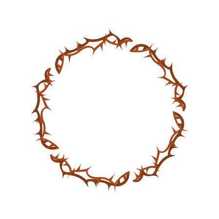 Corona de espinas icono de diseño de ilustración vectorial Foto de archivo - 77496319
