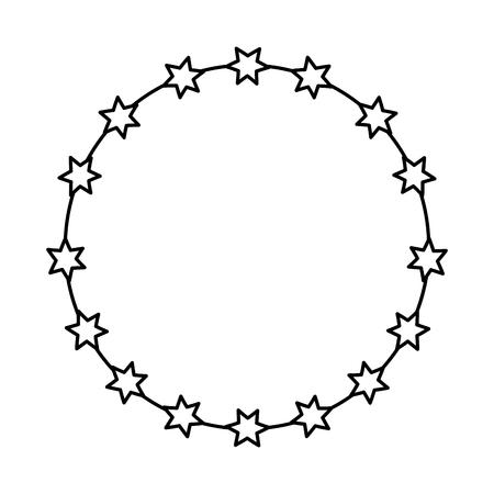 Corona di spine icona illustrazione vettoriale di progettazione Archivio Fotografico - 77496326