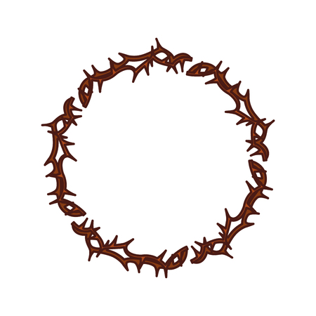 humility: Crown of thorns icon vector illustration design