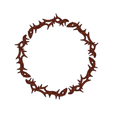 Kroon van doornen pictogram vector illustratie ontwerp Stock Illustratie