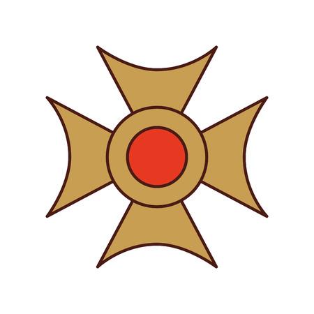 Christian cross emblem icon vector illustration design Illustration