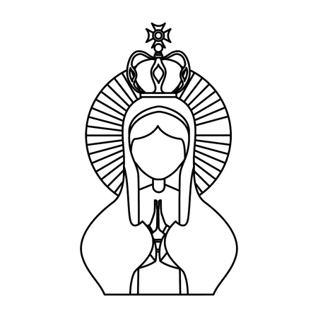 Holy virgin mary icon vector illustration design