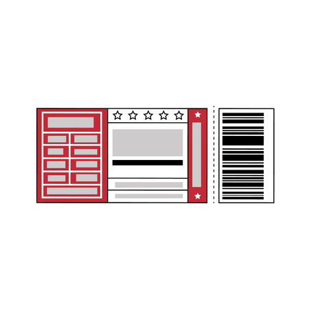 entertainment ticket icon over white background. colorful design. vector illustration