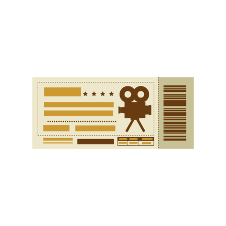 movie ticket icon over white background. colorful design. vector illustration