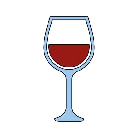 흰색 배경 위에 와인 글라스 아이콘입니다. 벡터 일러스트 레이 션