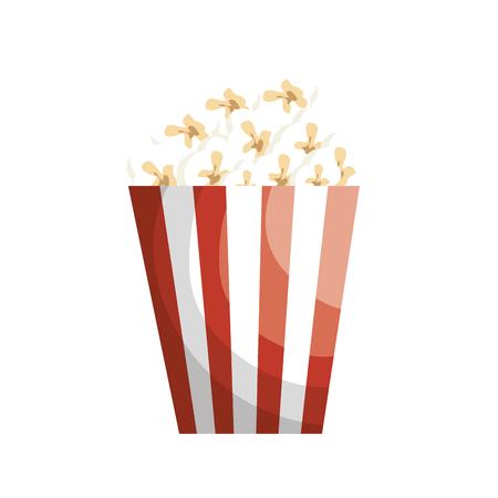 pop corn bucket icon over white background. colorful design. vector illustration 向量圖像