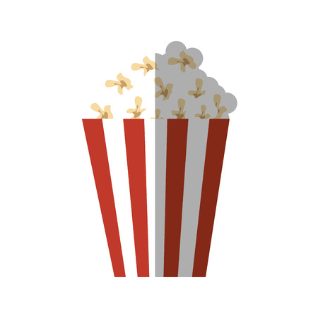 movie theater: pop corn bucket icon over white background. colorful design. vector illustration Illustration