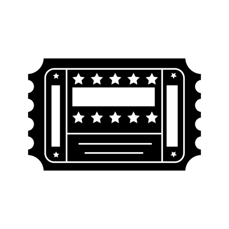 entertainment ticket icon over white background. vector illustration