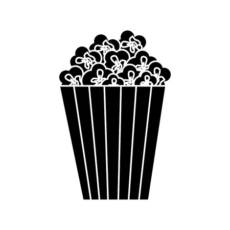 movie theater: cinema bucket icon over white background. vector illustration