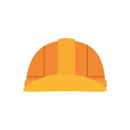 construction helmet icon over white background. colorful desing. vector illustration