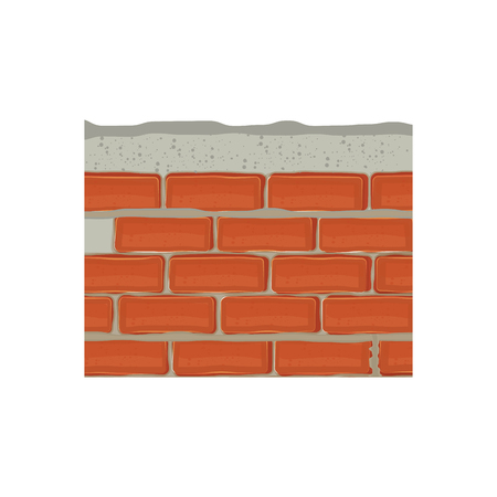 bricks wall icon over white background. colorful design. vector illustration