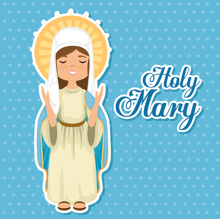 holy Miracle virgin religious card vector illustration design Reklamní fotografie - 77521069