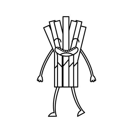 셀러리 신선한 야채 카와이 문자 벡터 일러스트 레이션 디자인