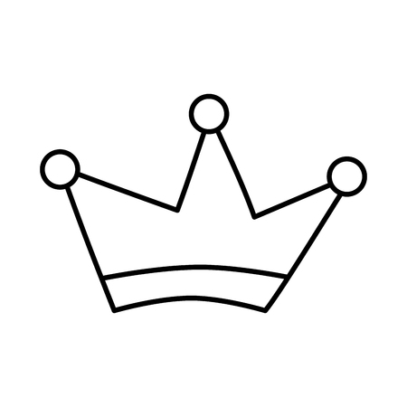 King crown drawing isolated icon vector illustration design