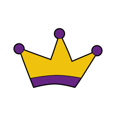 jeweled: King crown drawing isolated icon vector illustration design