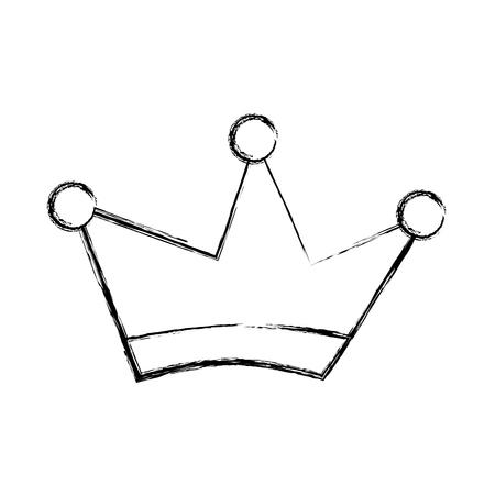 キング クラウン図面分離アイコン ベクトル イラスト デザイン