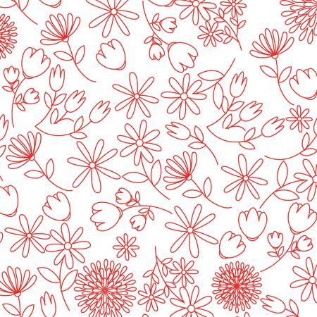 cute flowers pattern decorative icon vector illustration design Ilustrace