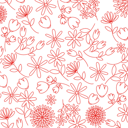 cute flowers pattern decorative icon vector illustration design Illustration