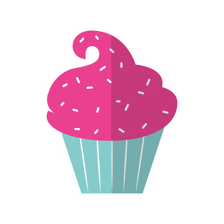 cupcake illustration: sweet and delicious cupcake vector illustration design Illustration