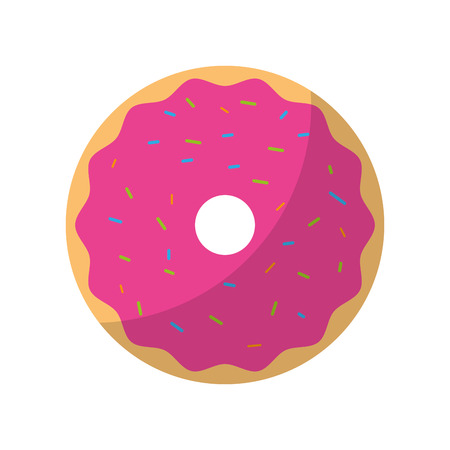 sweet and delicious donut vector illustration design Stock Vector - 77531873