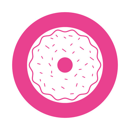 sweet and delicious donut vector illustration design Stock Vector - 77531922