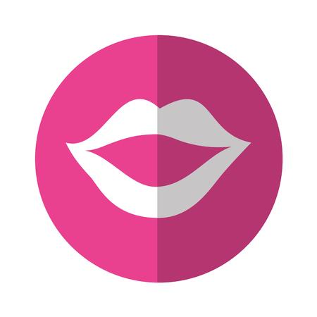 섹시한 여성 입술 아이콘 벡터 일러스트 레이션 디자인 일러스트