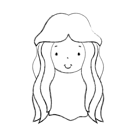 beuty: young woman avatar character vector illustration design Illustration
