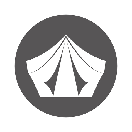 キャンプ テント分離アイコン ベクトル イラスト デザイン 写真素材