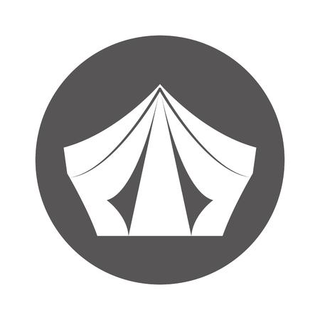 camping tent isolated icon vector illustration design Banco de Imagens