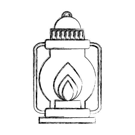 camping lantern isolated icon vector illustration design