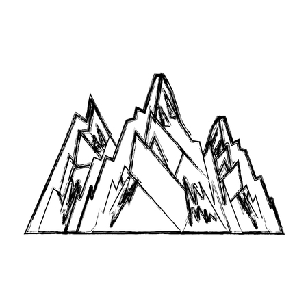 mountain big isolated icon vector illustration design