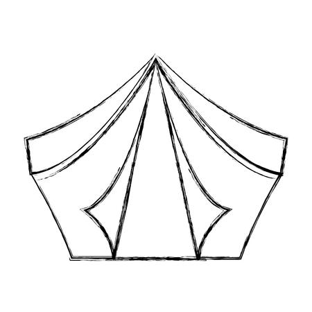 キャンプ テント分離アイコン ベクトル イラスト デザイン  イラスト・ベクター素材