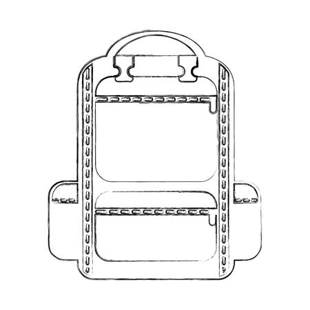 Camping tas reizen pictogram vector illustratie ontwerp Stockfoto - 77531250