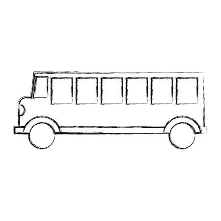 bus transport vehicle icon vector illustration design