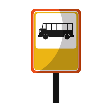 bus stop sign isolated icon vector illustration design Stock Photo