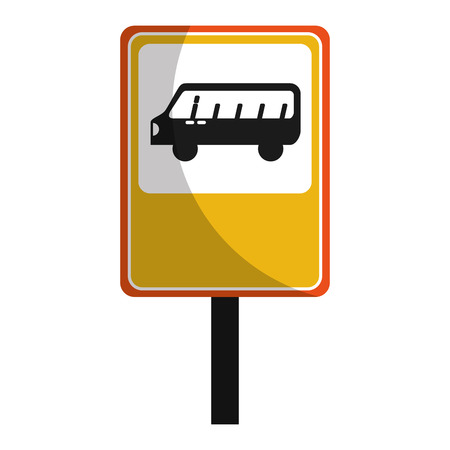 bus stop sign isolated icon vector illustration design Фото со стока