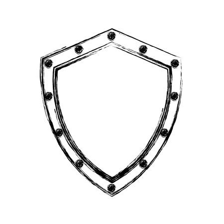 security shield isolated icon vector illustration design Ilustração
