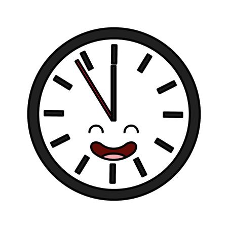 time clock  character vector illustration design Ilustração