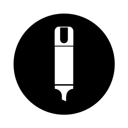 highlighter pen isolated icon vector illustration design Stock Vector - 77618359