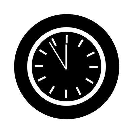 time clock isolated icon vector illustration design Banco de Imagens