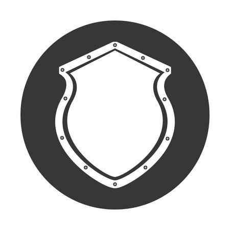 セキュリティ シールド アイコン ベクトル イラスト デザインを分離しました。