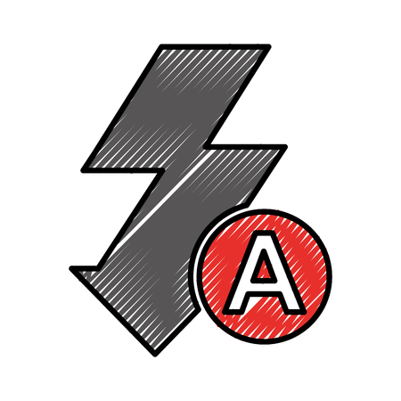 flash ray photographic item vector illustration design