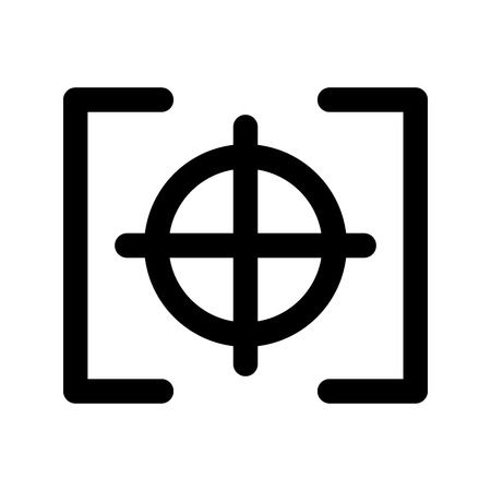 photo target camera item vector illustration design