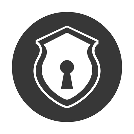 key hole: security shield with shape hole isolated icon vector illustration design