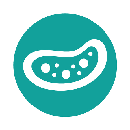 bacteria cell: Bacterial cell structure icon vector illustration design