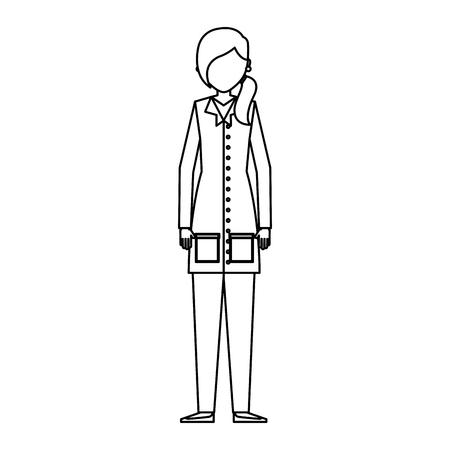 Scientific woman avatar icon vector illustration design